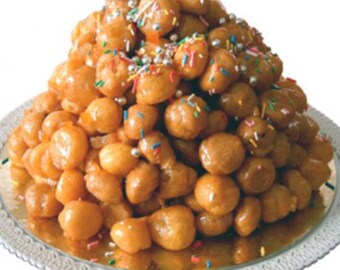 13.99 per approximately 1and half pound  tray of homemade  struffoli per order!