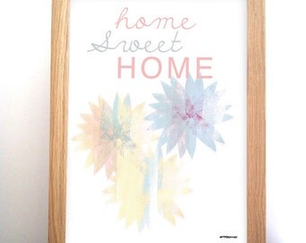 Illustrated poster home sweet home