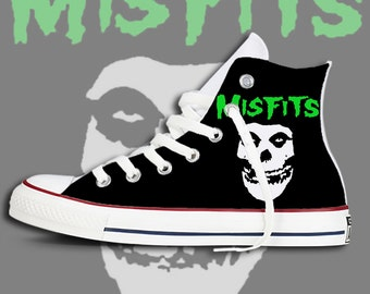 Custom Misfits printed Chucks