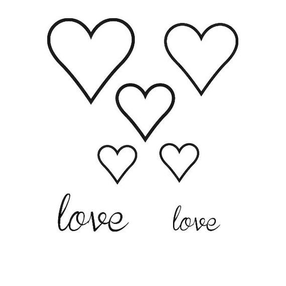 """Tattoo woman """"Love Hearts"""""""