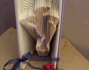 Burlesque lady - Book folding PATTERN