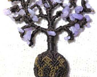 Tree of Life Amethyst Macrame