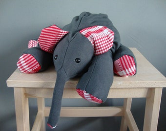 Ollie, elephant plushie, made to order, choose any color