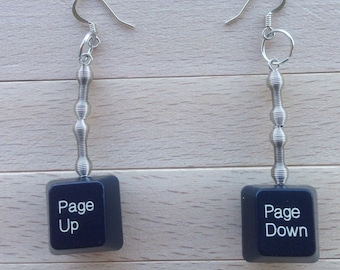 Personalized Keyboard Earrings - Double-Sided - With Your Choice of Keys