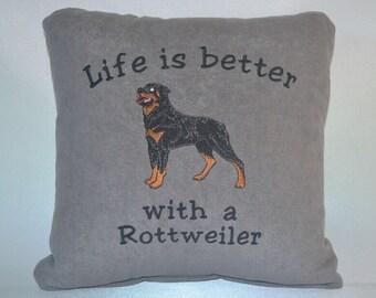 Rottweiler pillow