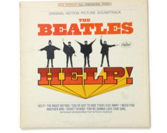"The Beatles - ""Help!"", SMAS-2386, stereo, green label reissue, vintage vinyl LP, ex/vg+"