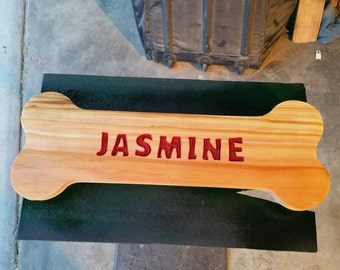 Custom wood dog bone sign