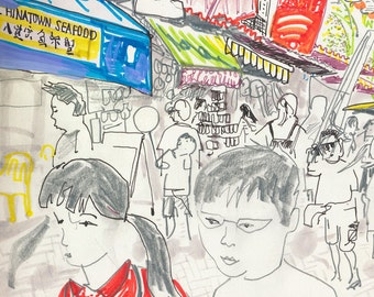 A4 ChinaTown Singapore limited edition digital print