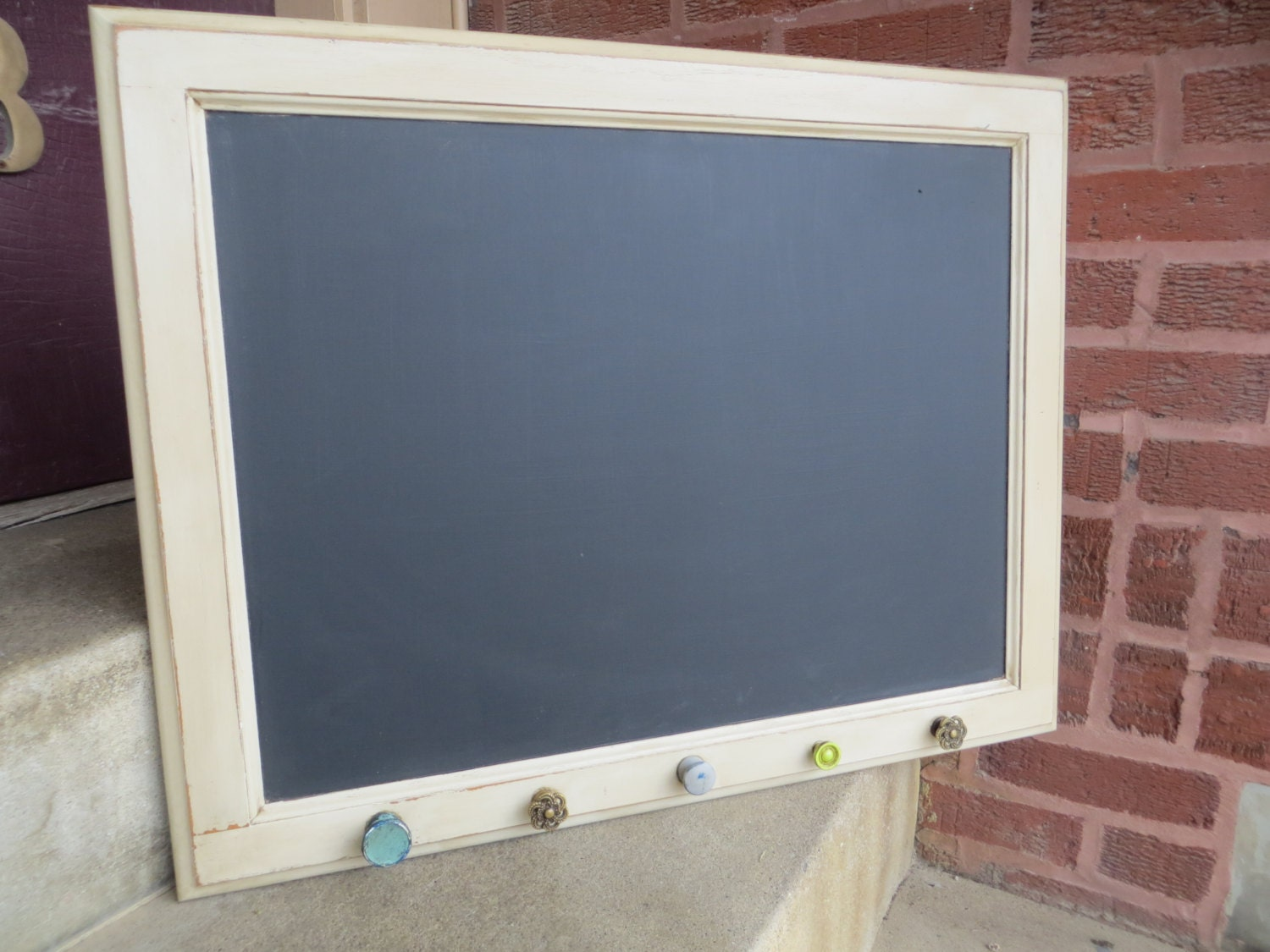 Chalkboard Repurposed Cabinet Door