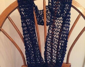 blue sparkle infinity scarf