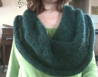Alpaca cowl hand knit