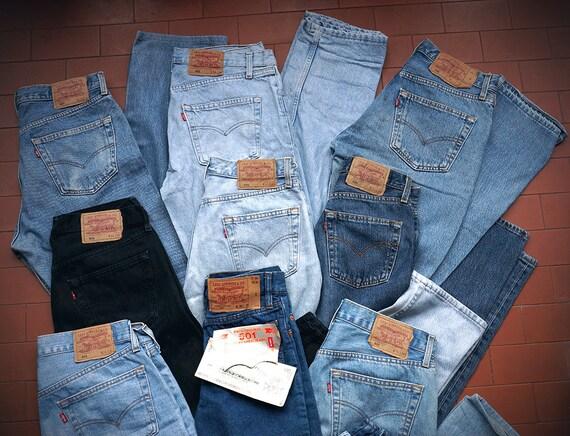 Jeans LEVIS 501 (stock, almost any sizes) unisex denim