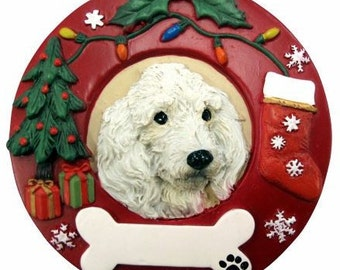 Poodle Gifts, Poodle Ornament Personalized with your Dog's Name