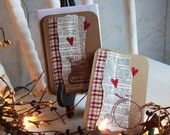 Primitive Valentine ATC cards - Set of 6 with envelopes