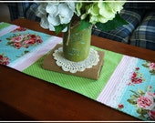 Table Runner, Floral, Polka-Dot, Mother's Day, Ruffle. Spring, Summer