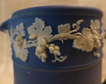 Vintage Wedgwood Cobalt Jasperware Milk or Cream Pitcher