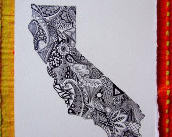 California State Print/California Outline Art