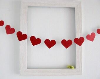 valentines garland 5f 10f heart garland wedding garland glitter heart
