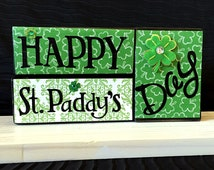 St. Patrick's Day wood block sign!  A great way to celebrate St. Patrick's Day and bring good luck to everyone!