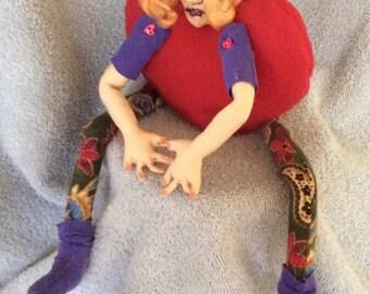 Cloth Doll, Elf, Diana's DZines, Dolls, handmade,OOAK