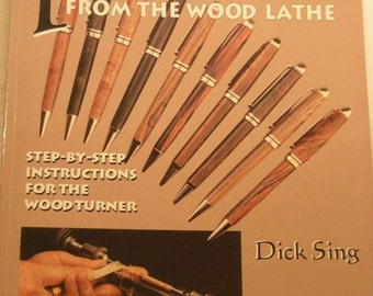 """book """"PENS from the wood lathe"""" illustrated instruction book"""