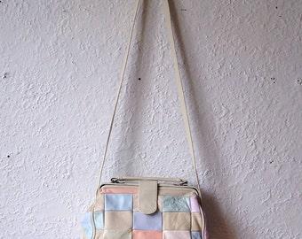 Vintage pastel color handbag