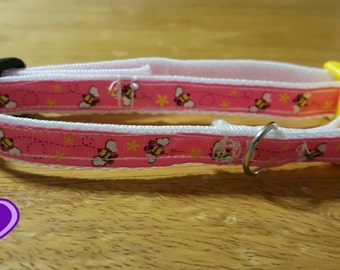 """1/2"""" or 5/8"""" Bumble Bee Collar for Dogs & Cats"""