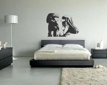 legend of zelda link and zelda vinyl wall art decal sticker 003