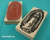 Lg Virgin of Guadalupe Stamp / Invoke Arts Collage Rubber Stamps