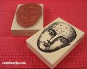 Large Meri Stamp / Invoke Arts Collage Rubber Stamps