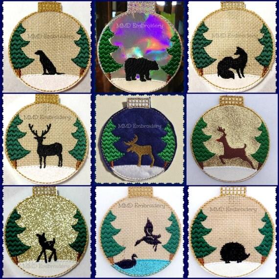Items similar to woodland animals felt ornament set of