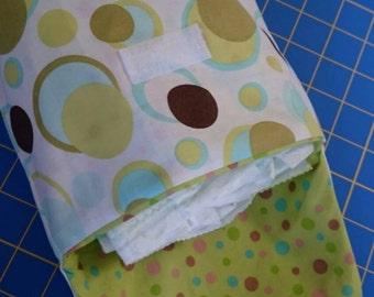 Diaper and wipe clutch
