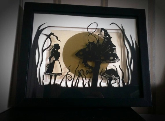 Basket Weaving Nuneaton : Alice in wonderland personal use papercutting template
