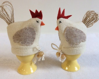 Handmade felt Chicken Egg Cozy  - Easter Decor