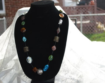 Lampworked Glass Bead Necklace