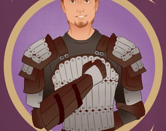 Dragon Age: Origins -- Alistair Theirin Print