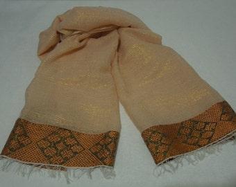 Women's Ethiopian 100% Handwoven Shimmering Cotton Shawl