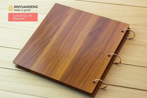 Wooden Book Cover Diy : Inches love wood cover scrapbook album diy photo