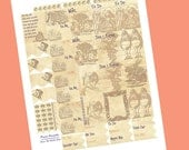 Alice In Wonderland Planner Stickers // Down The Rabbit Hole Mini Set // Perfect for Erin Condren and Plum Paper Planners