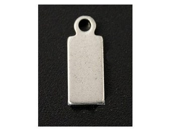 8pcs--Stainless Steel Blank Stamping Tag Pendants  (B4-6)