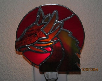 stained glass night light dragon