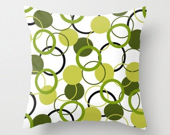 Green Pillow Cover Avocado Olive Colorful Pillows Living Room