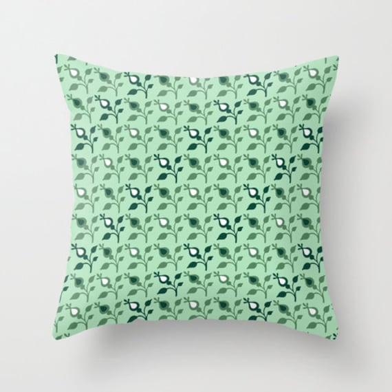 Throw Pillows In Mint Green : Mint Throw Pillow Green Decorative Pillows by DesignbyJuliaBars