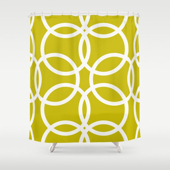 Items Similar To Unique Shower Curtain Yellow Olive Green Colorful Shower Curtain Modern