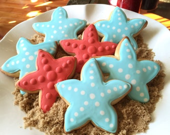 1 doz under the sea cookie party favors/starfish/Mermaid Party/Party favors