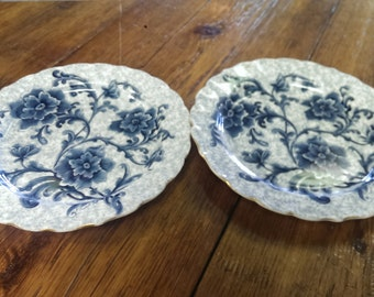 Antique blue flower plates 1885