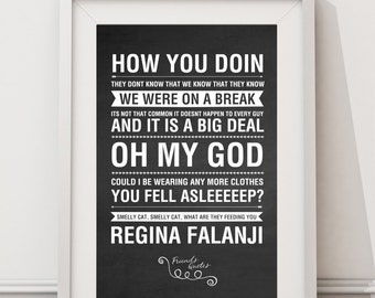 Friends Tv Quotes - HIGH QUALITY PRINT -  Choose Your Size - Wall Art - Poster Print - Modern Design