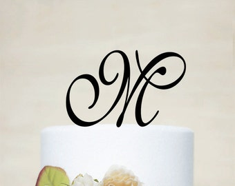 Initial Cake Topper,Personalized Cake Topper, Monogram Cake Topper,Custom Wedding Cake Topper,Letter Cake Topper-I018