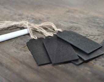 8/pk Writable Chalkboard Tags w/ Jute; Gift Tags; Chalkboard Gift Tags