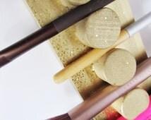 Gold Cushion Makeup Brush Holder